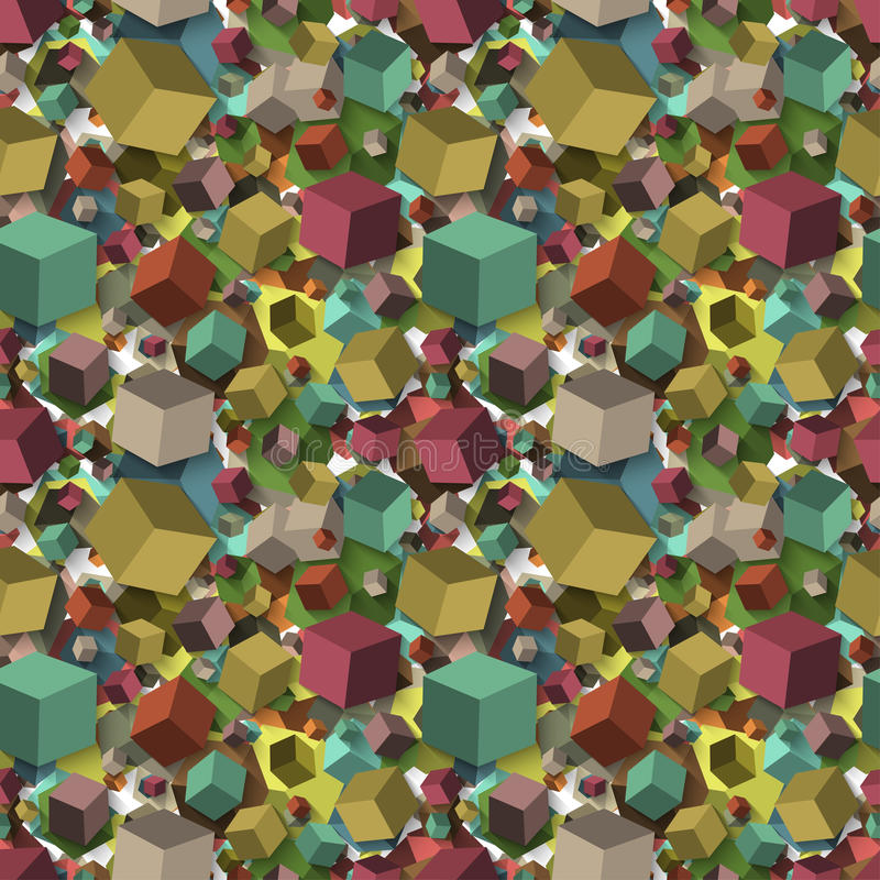 Isometric fall cubes seamles texture background. Vector. EPS vector illustration