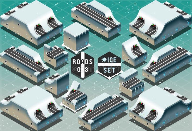 Download Isometric Galleries Tunnels On Frozen Terrain Stock Vector - Image: 40003630