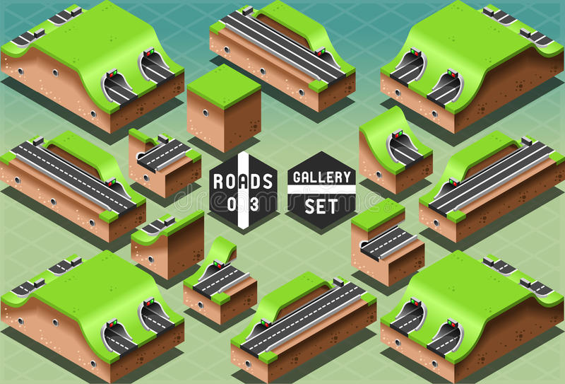 Isometric Galleries Tunnels and Sections royalty free illustration