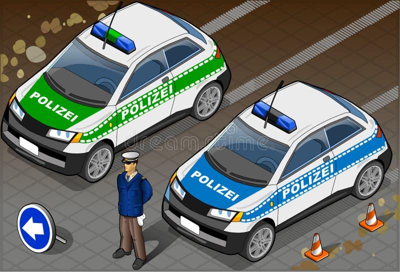 Isometric German Police Car royalty free illustration