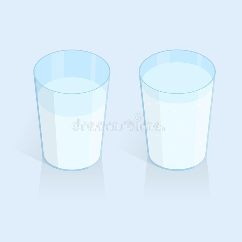 Isometric glass of water vector. Isometric glass of drink water vector vector illustration