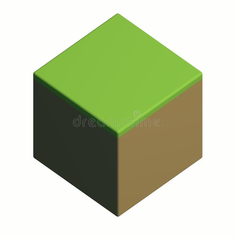 Isometric grass block royalty free stock images