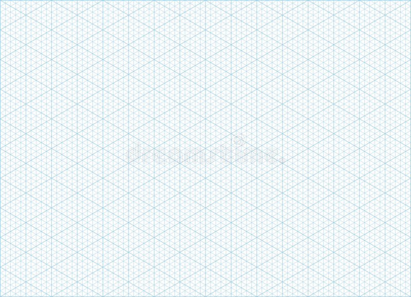 isometric grid graph paper background stock vector
