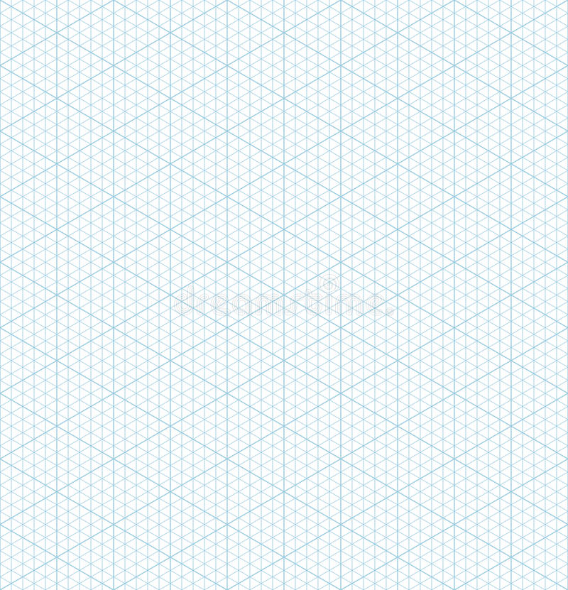 Isometric Grid Graph Paper Seamless Pattern Stock Vector