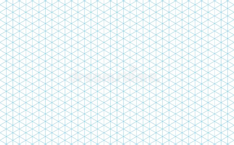 Isometric grid lines blue vector illustration