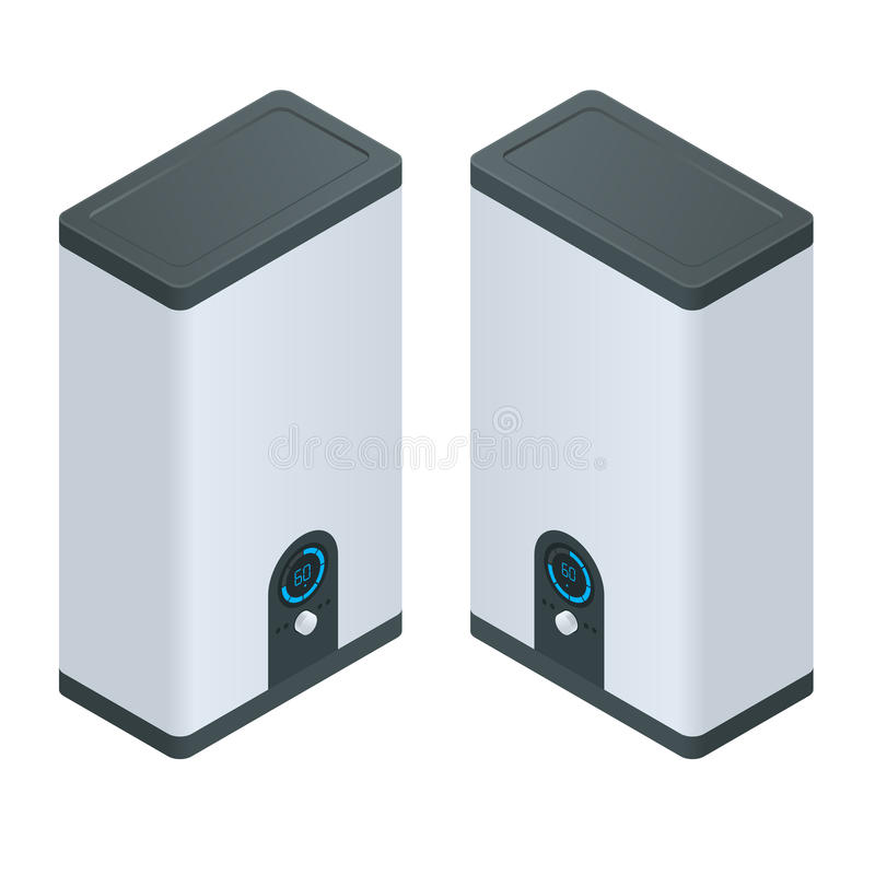 Isometric Home Electric Heating Boiler. Home Heating Appliances ...