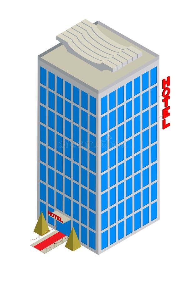 Download Isometric hotelowa ikona ilustracja wektor. Obraz złożonej z hotele - 28799798