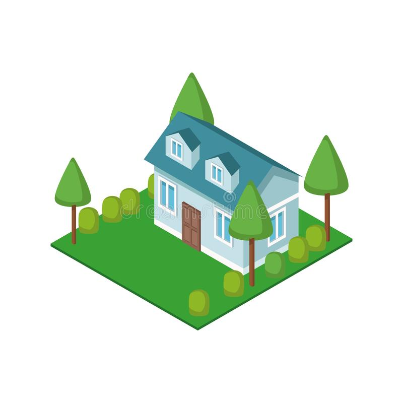 Isometric house 3d. Icon illustration graphic design stock photography
