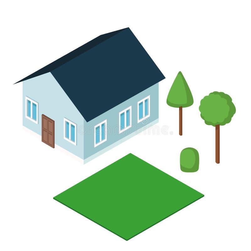 Isometric house 3d. Icon illustration graphic design stock image