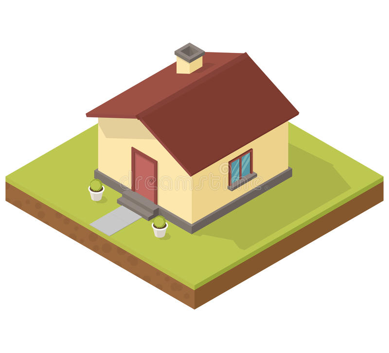 isometric house icon  stock vector