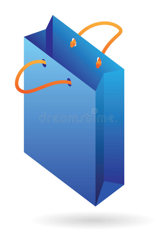 Isometric Icon Of Paper Bag Royalty Free Stock Photography
