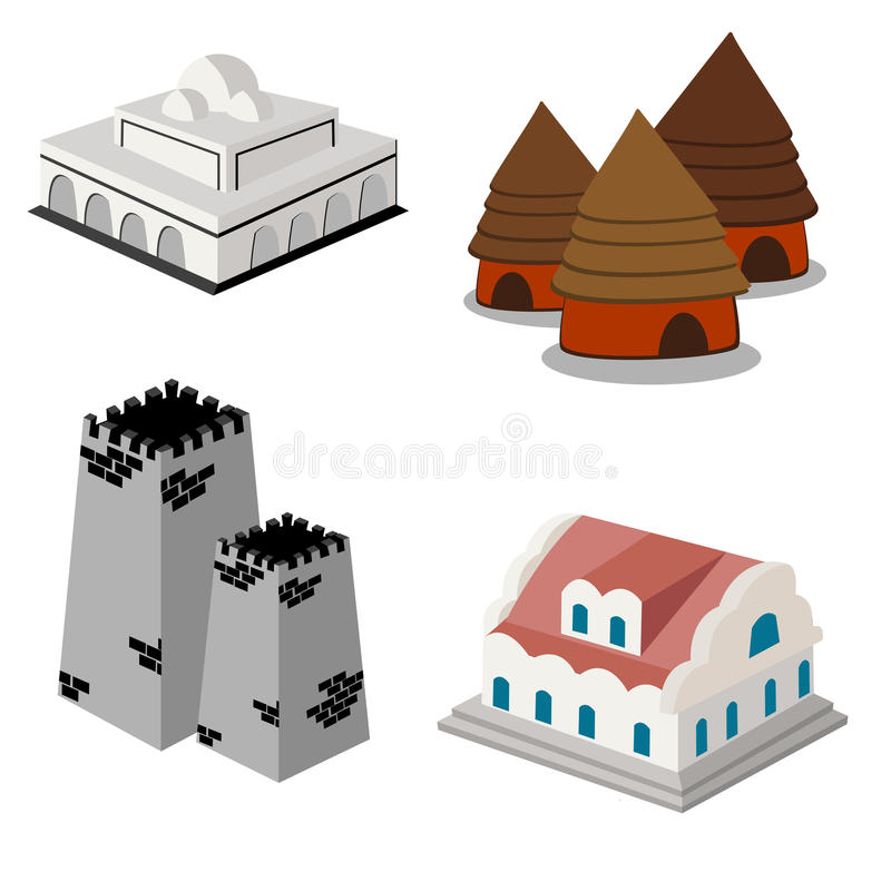 Download Isometric icon set stock vector. Image of graphic, house - 20373803