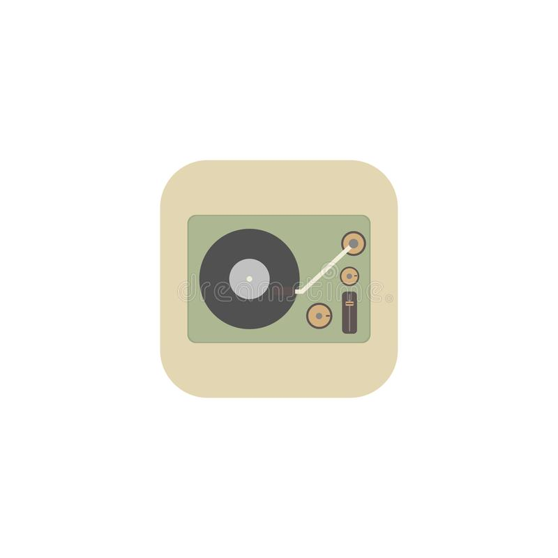 Isometric image of a gramophone in a retro style. Vector illustration. EPS 10 royalty free illustration