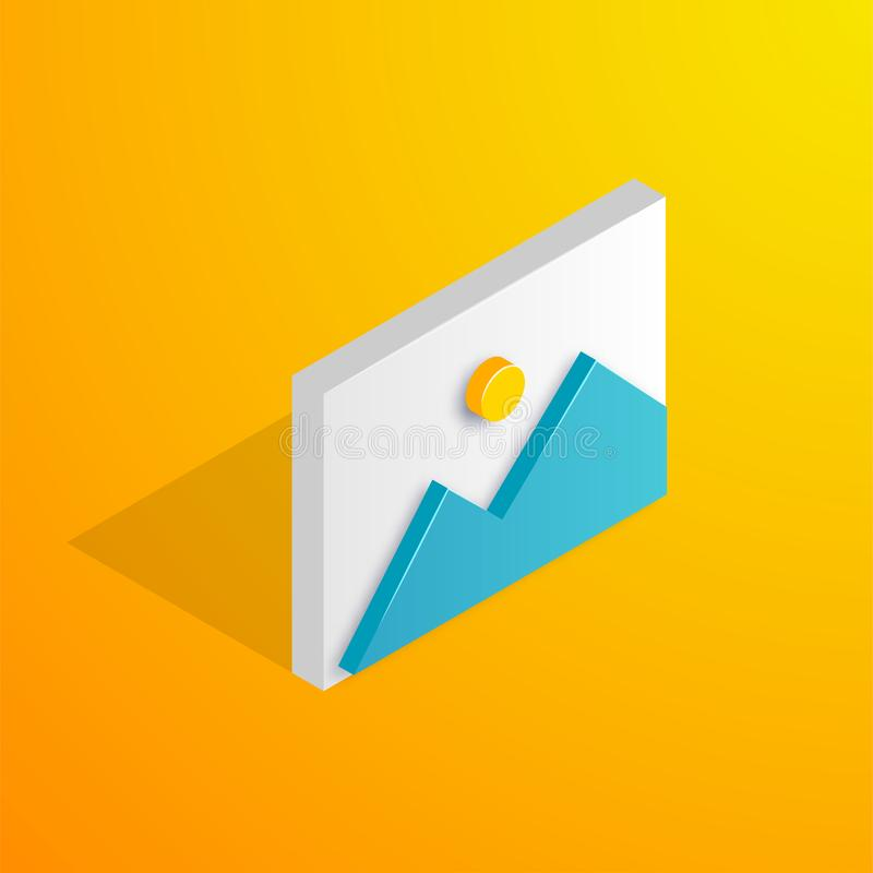 Isometric image icon royalty free illustration