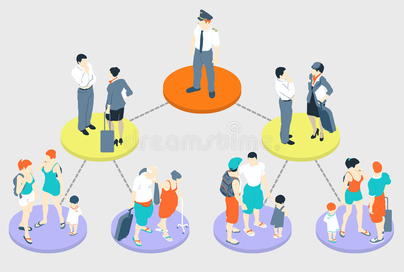 Isometric Infographic Holiday - Fly Tasks. Detailed illustration of a Isometric Infographic Holiday - Fly Tasks This illustration is saved in EPS10 with color vector illustration