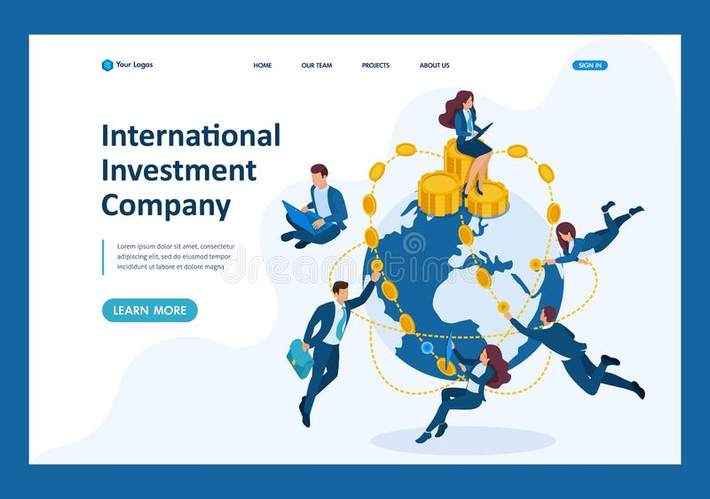 Isometric International Investment Company 皇族释放例证