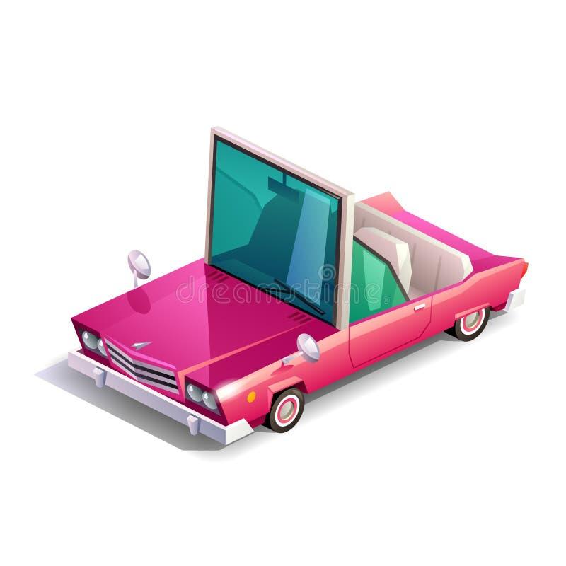 Isometric kabriolet ilustracja wektor