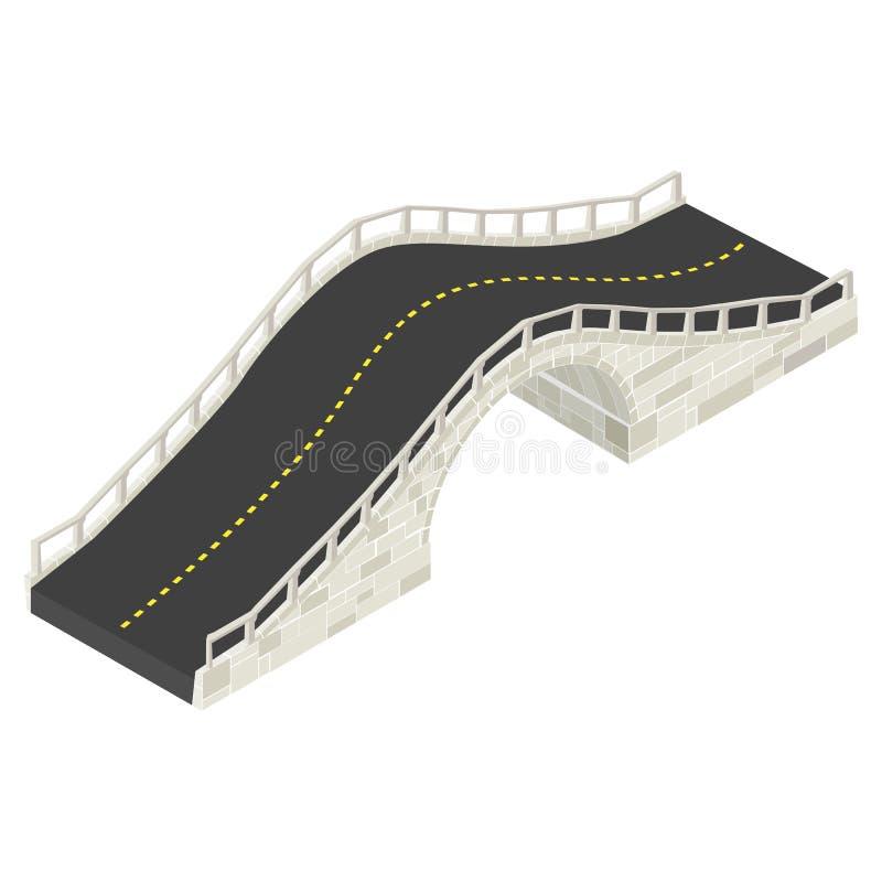 Download Isometric kamienia most ilustracja wektor. Obraz złożonej z archeologiczny - 28799795