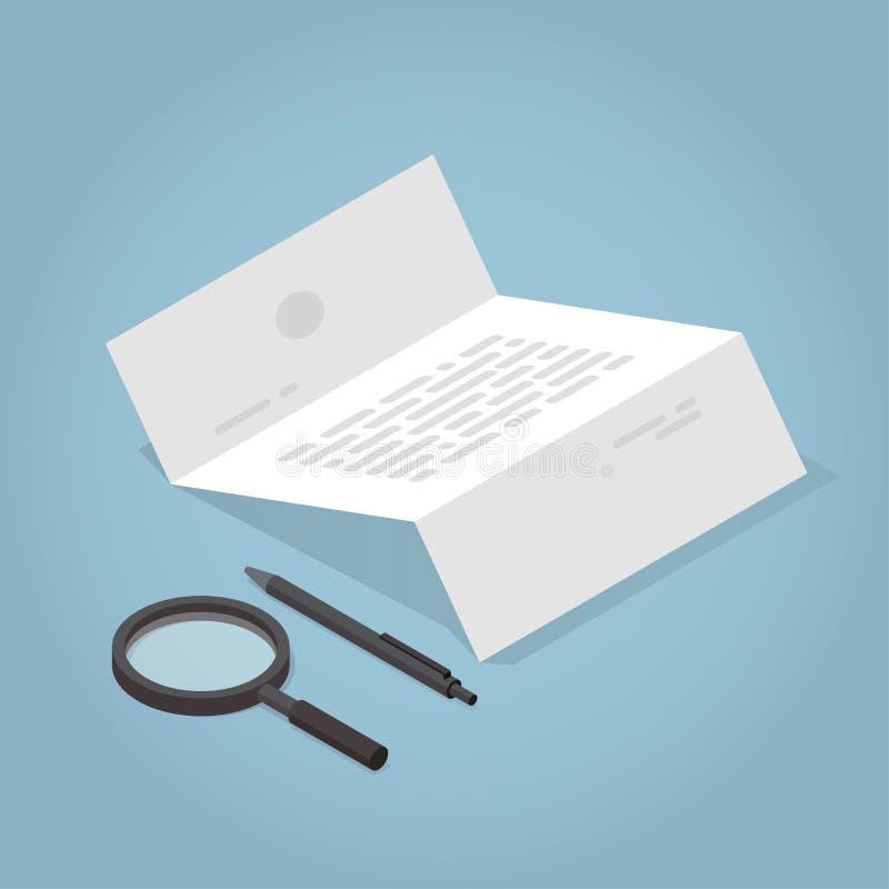 Isometric Kontraktacyjna pojęcie ilustracja ilustracja wektor