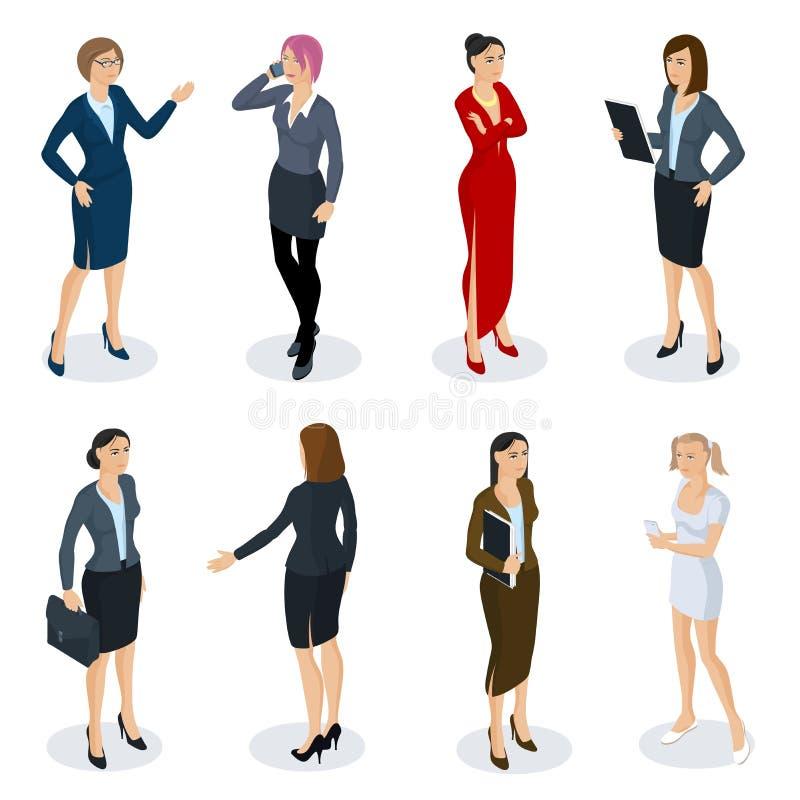 Isometric ludzie wektoru setu ilustracji