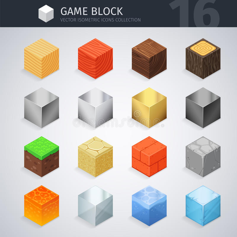 Isometric Material Cubes vector illustration