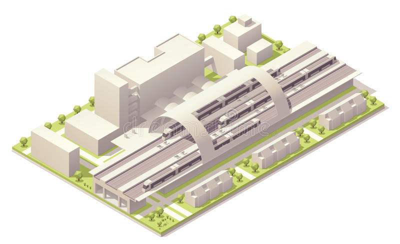 Download Isometric Modern Train Station Royalty Free Stock Image - Image: 31958646