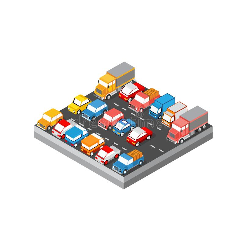 Isometric module block stock illustration