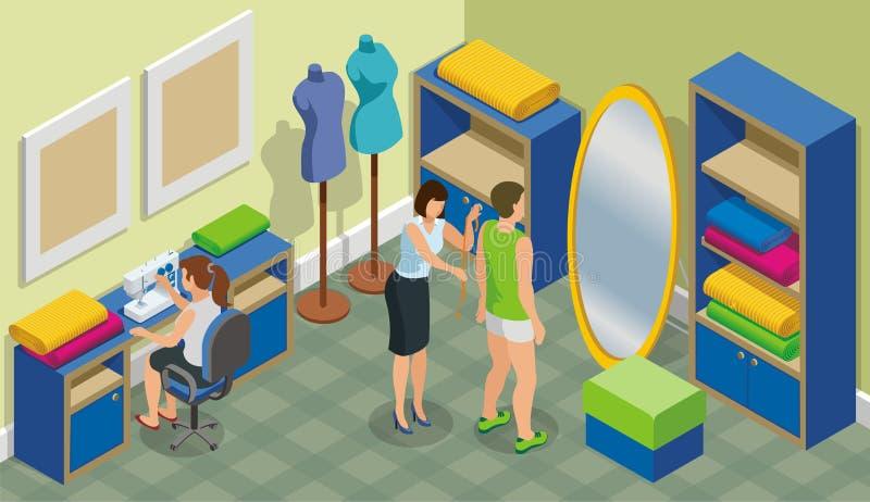 Isometric mody Atelier szablon royalty ilustracja