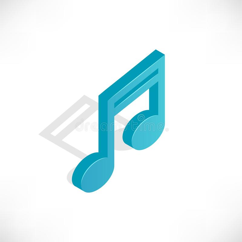 Isometric music icon stock illustration