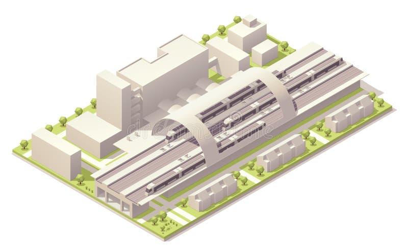 Isometric nowożytny dworzec royalty ilustracja