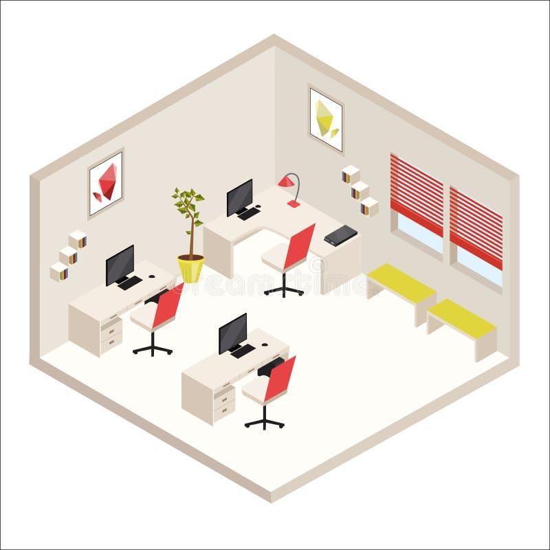 Isometric office stock illustration
