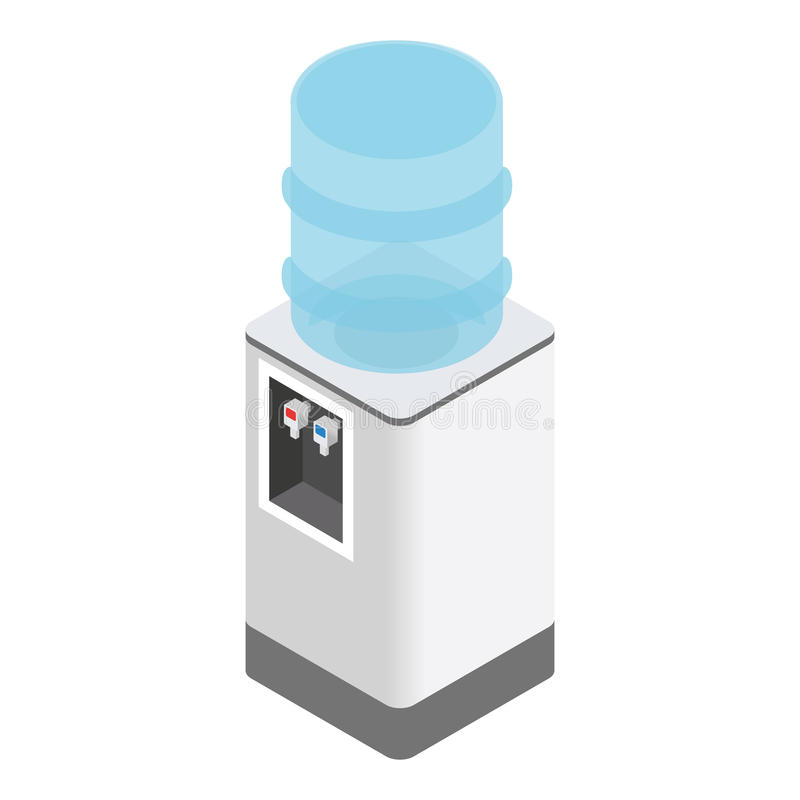 Isometric office water cooler. On white background royalty free illustration