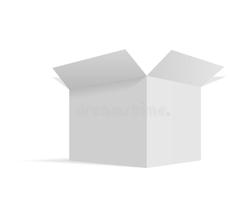 Isometric opened cardboard box packaging template isolated, vector illustration design. Isometric opened cardboard box packaging template isolated, vector royalty free illustration