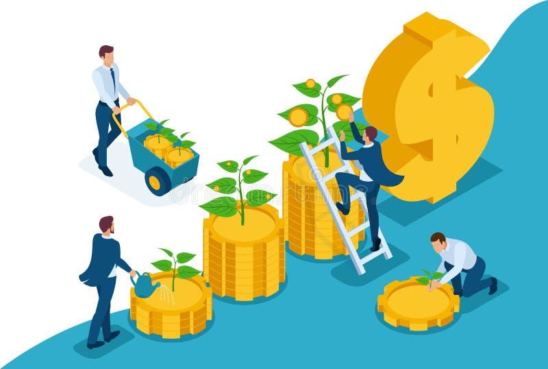 Isometric Oprócz Przyrostowej inwestycji, dochodu przyrost ilustracji
