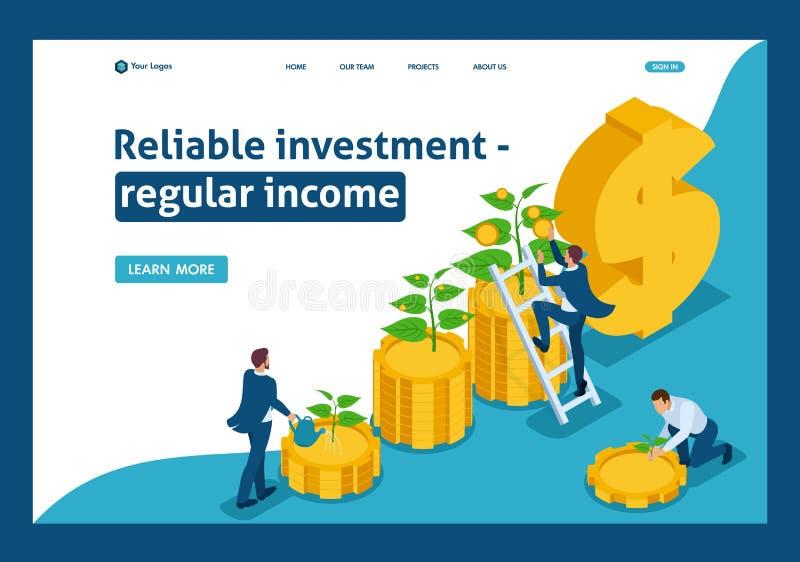 Isometric Oprócz Przyrostowej inwestycji, dochodu przyrost royalty ilustracja
