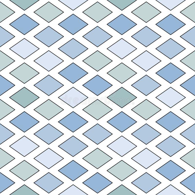 Isometric pattern of diamonds vector illustration