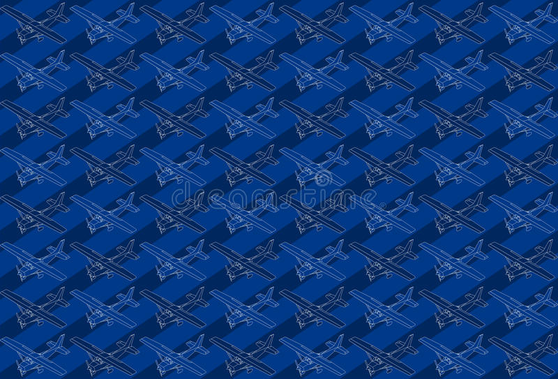 Isometric pattern of a little plane vector illustration