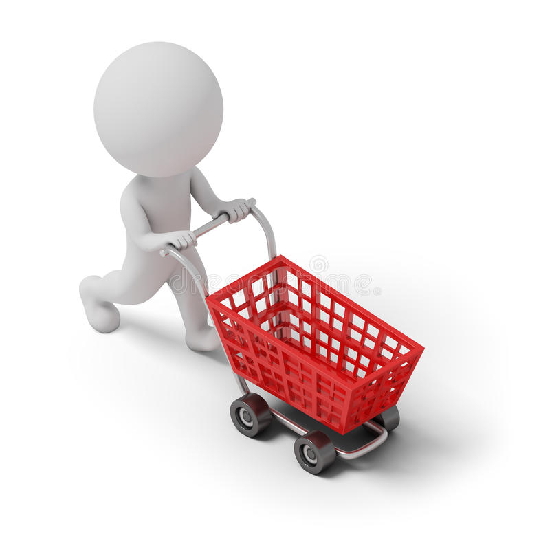 Download Isometric people - cart stock illustration. Image of little - 82065193