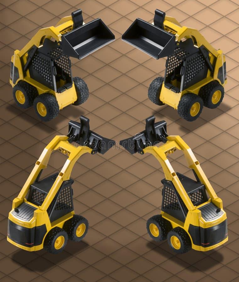 Isometric Photograph - Bobcat Excavator w vector illustration