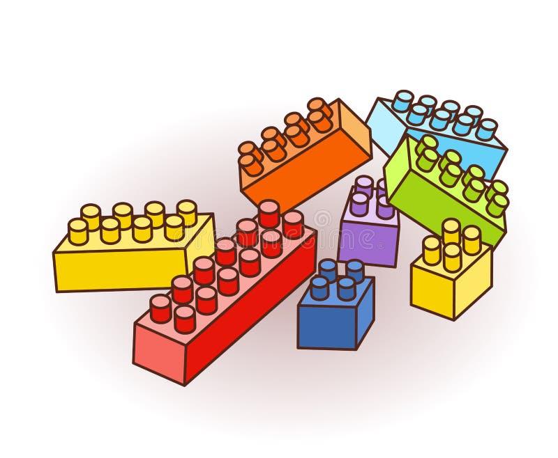Isometric Plastikowe płytki i elementy ilustracji