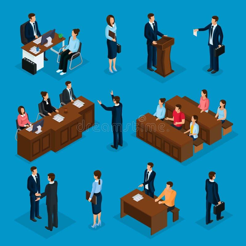 Isometric prawnicy Inkasowi ilustracji