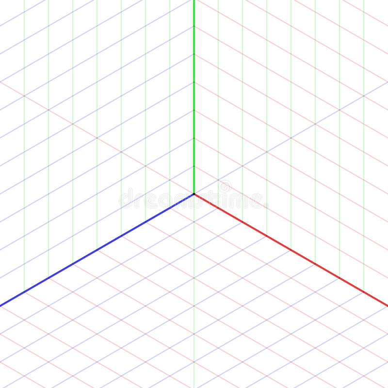 Isometric projekci tło ilustracji
