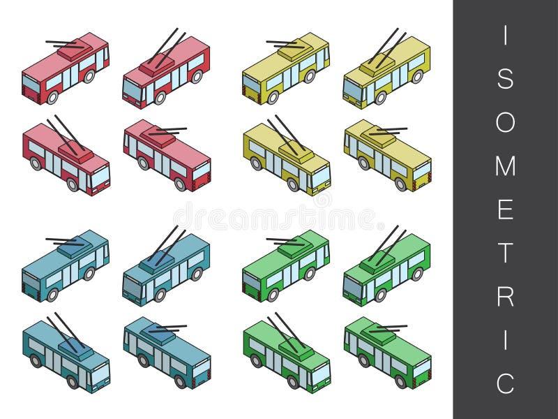 Isometric przewieziony ikona set ilustracja wektor