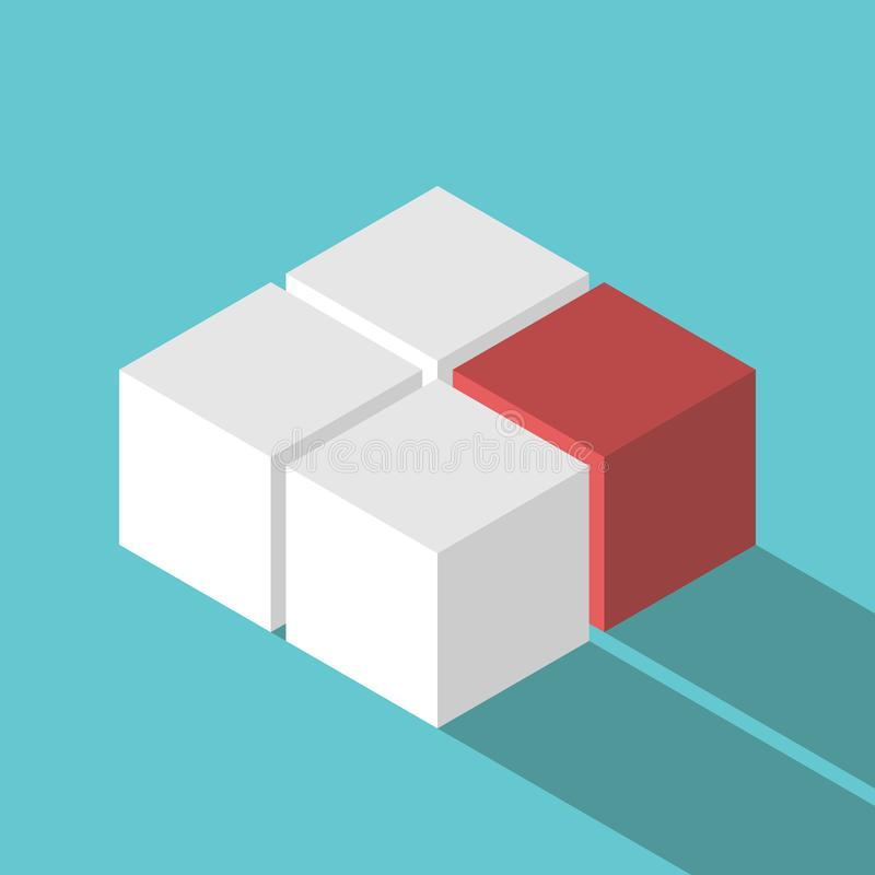 Free Isometric Red Missing Cube Stock Photo - 104375670
