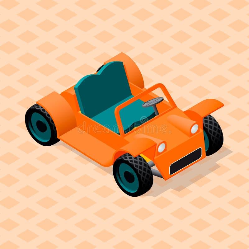 Isometric retro samochodu model ilustracja wektor