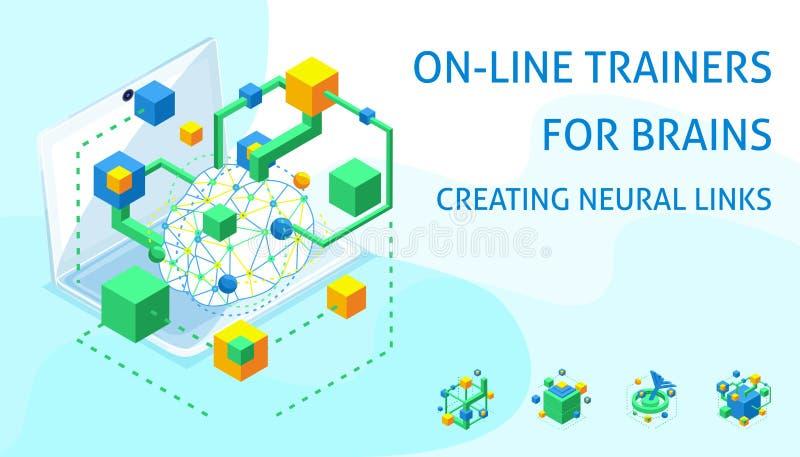Isometric rozwój istnieć neuronal nici formację nowi ulepszać i, ilustracji