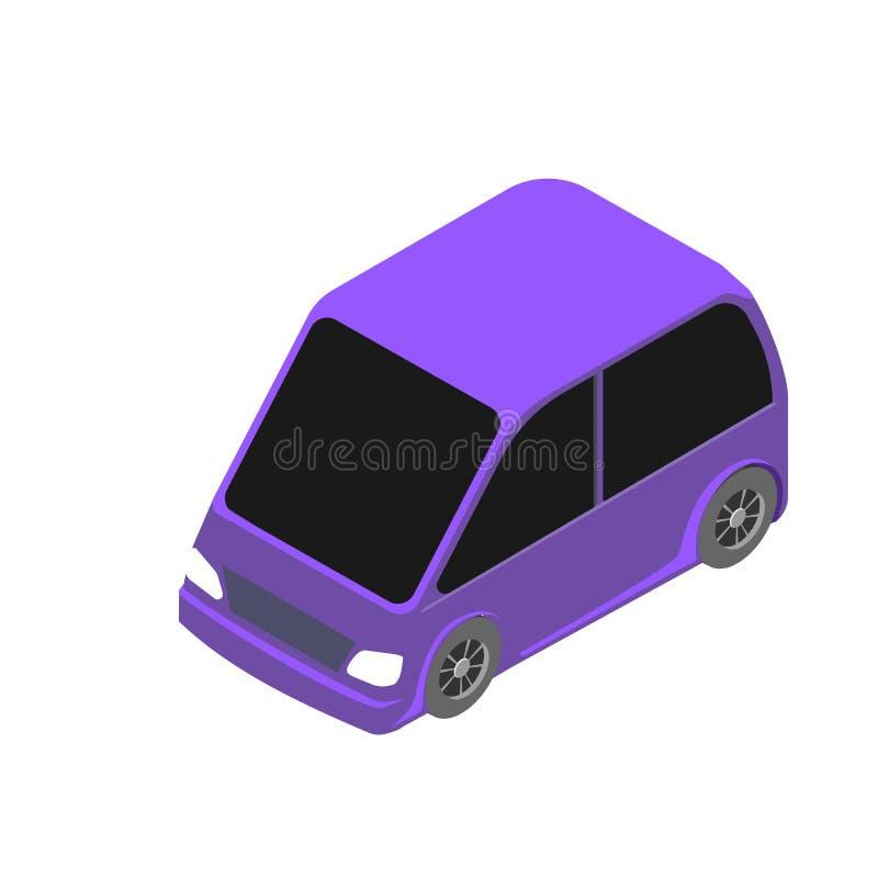 Isometric samochodowa ikona 3d wektorowa ilustracja odizolowywająca na białym tle ilustracja wektor