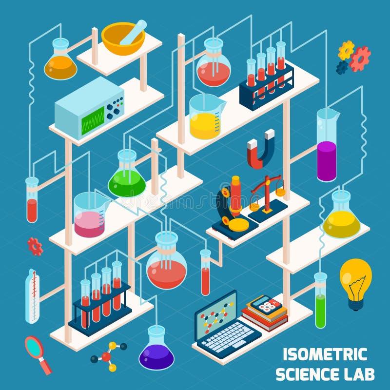 Isometric Science Lab vector illustration