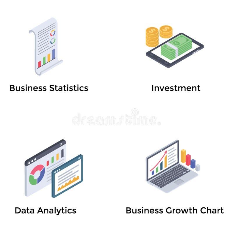 Financial Analytics Icons royalty free illustration