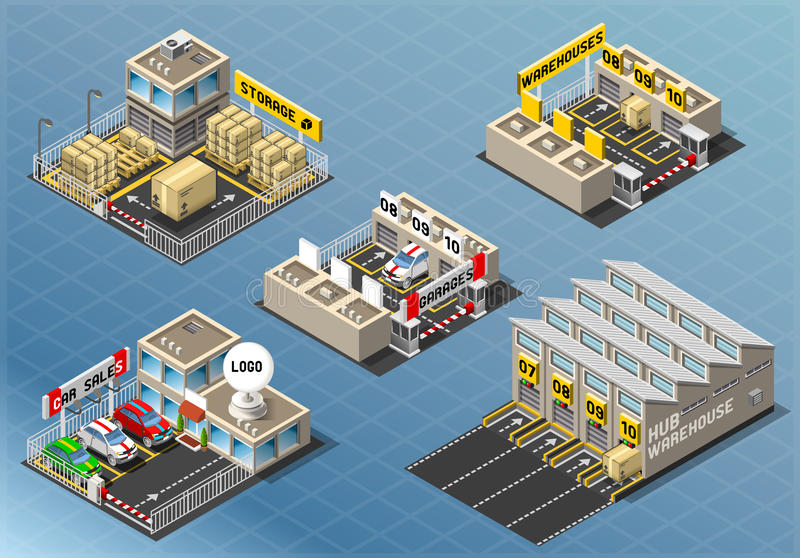 Download Isometric Set Of Storage Buildings Stock Photos - Image: 37664873